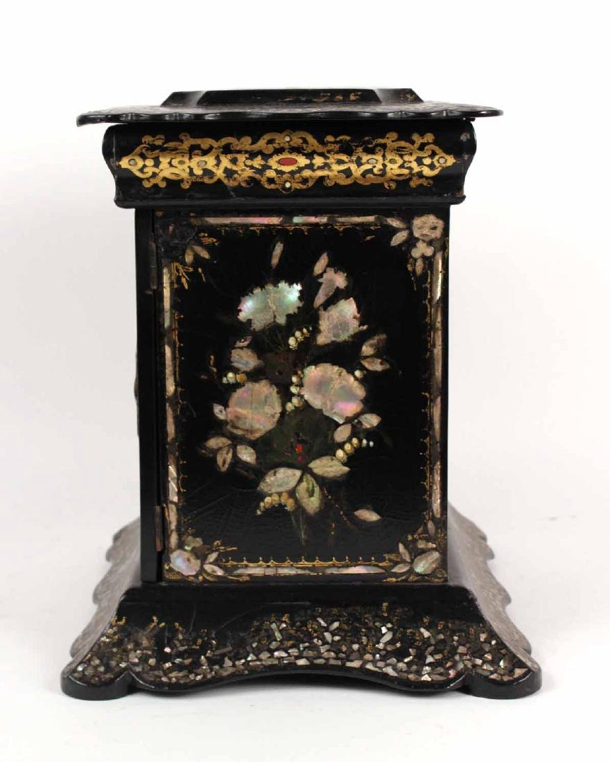 Victorian Mother of Pearl &Paper Mache Sewing Box - 10