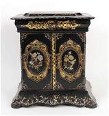 Victorian Mother of Pearl &Paper Mache Sewing Box