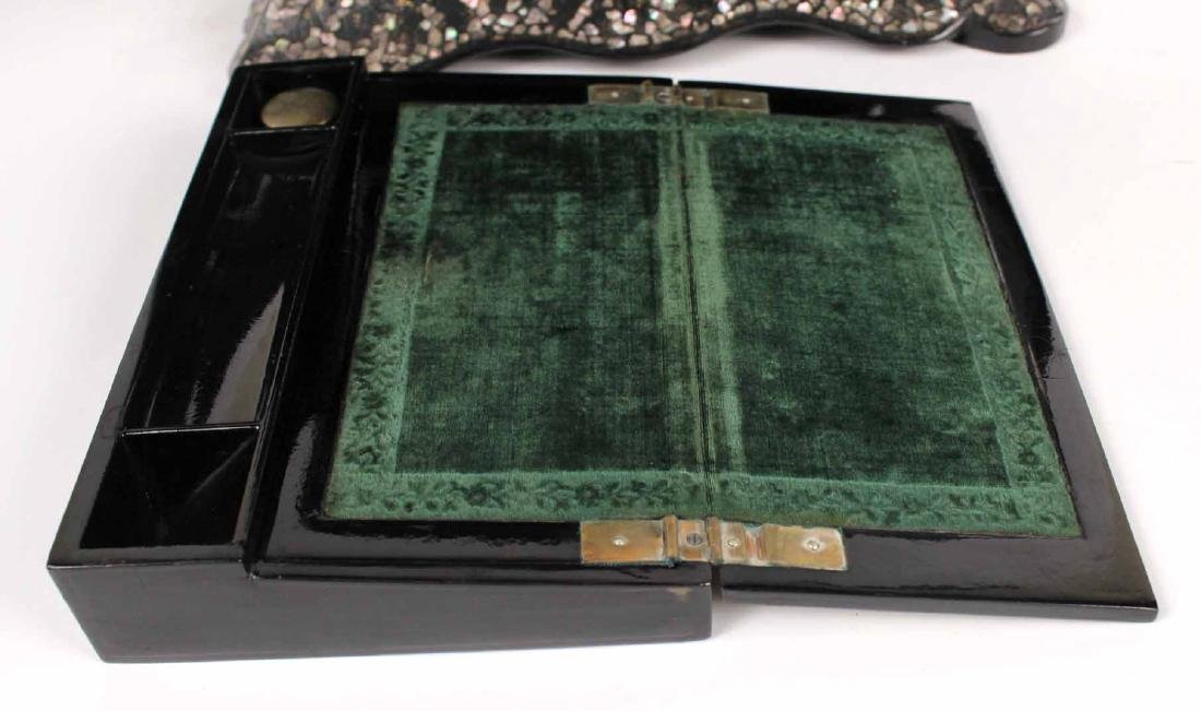 Victorian Mother of Pearl &Paper Mache Sewing Box - 8