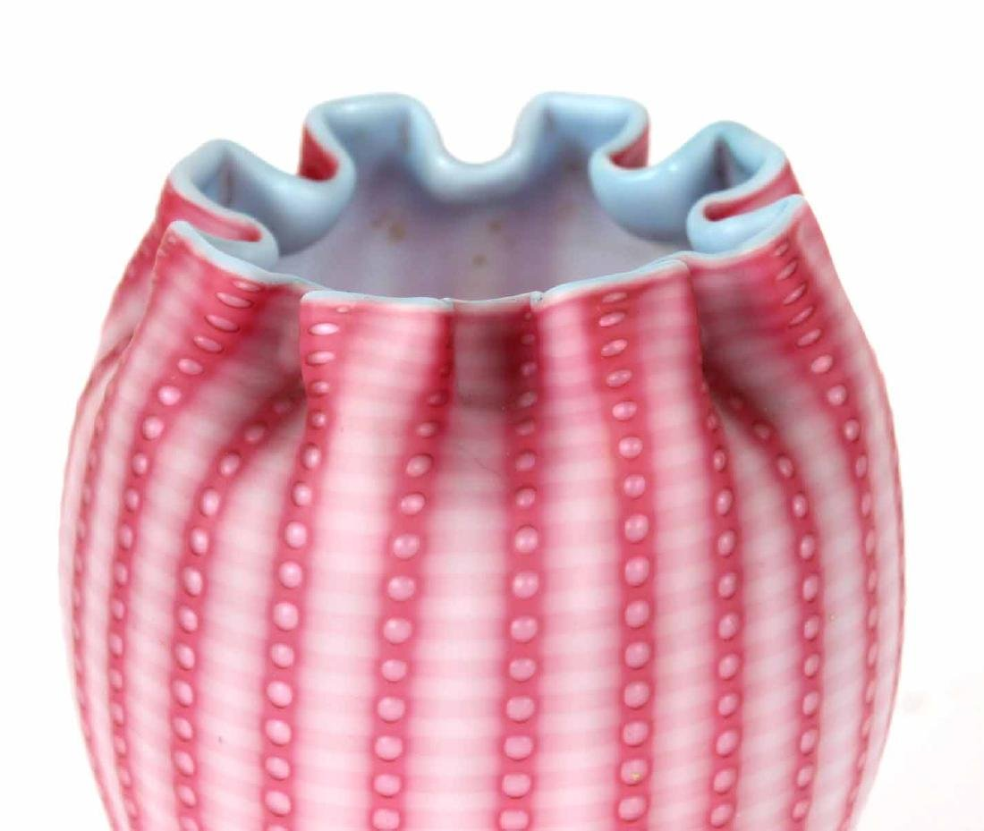 Satin Cased Glass Vase and Pitcher - 3