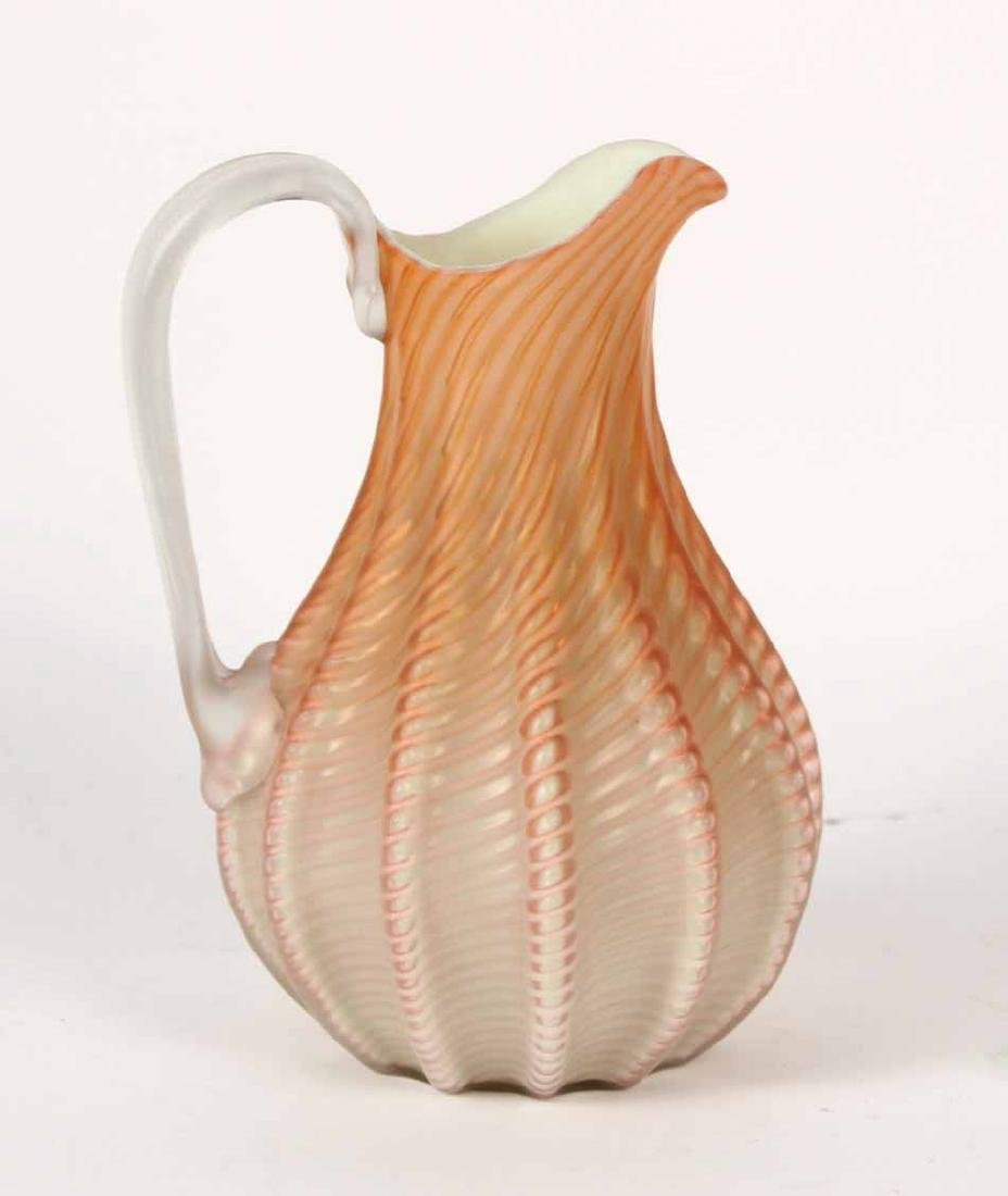 Satin Cased Glass Vase and Pitcher - 5