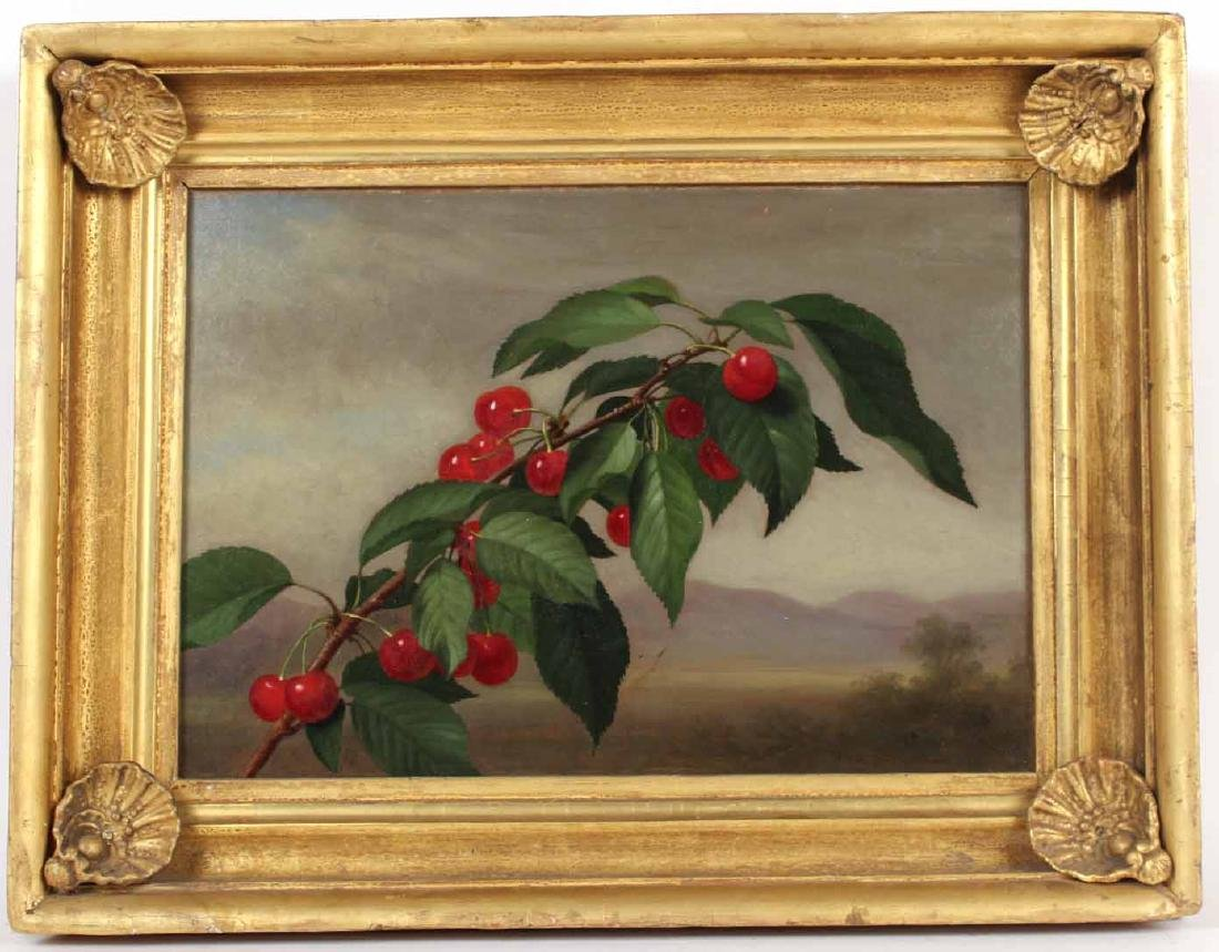 Oil on Canvas, Cherries, George Henry Hall