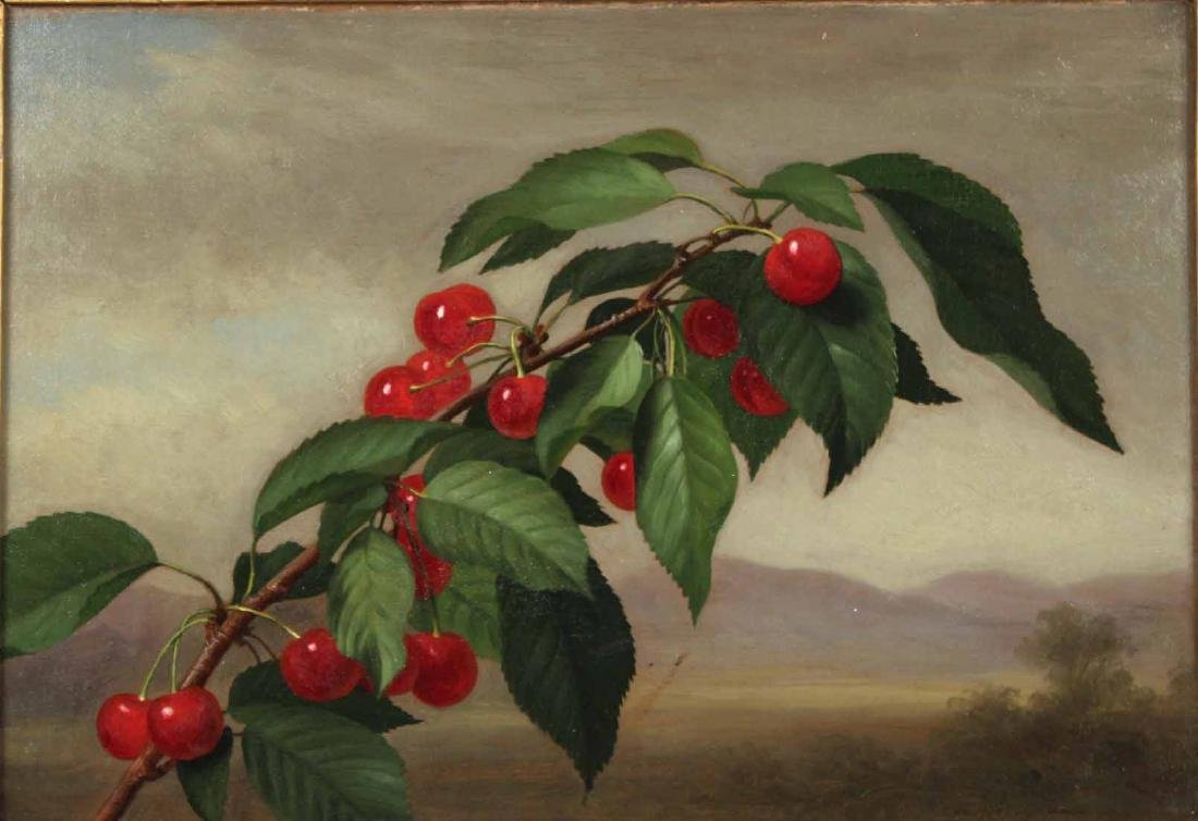 Oil on Canvas, Cherries, George Henry Hall - 2