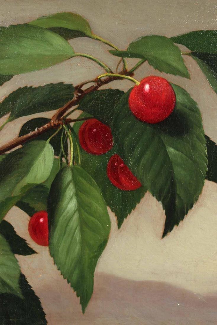 Oil on Canvas, Cherries, George Henry Hall - 3