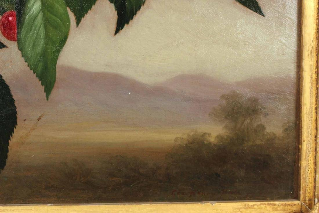 Oil on Canvas, Cherries, George Henry Hall - 4