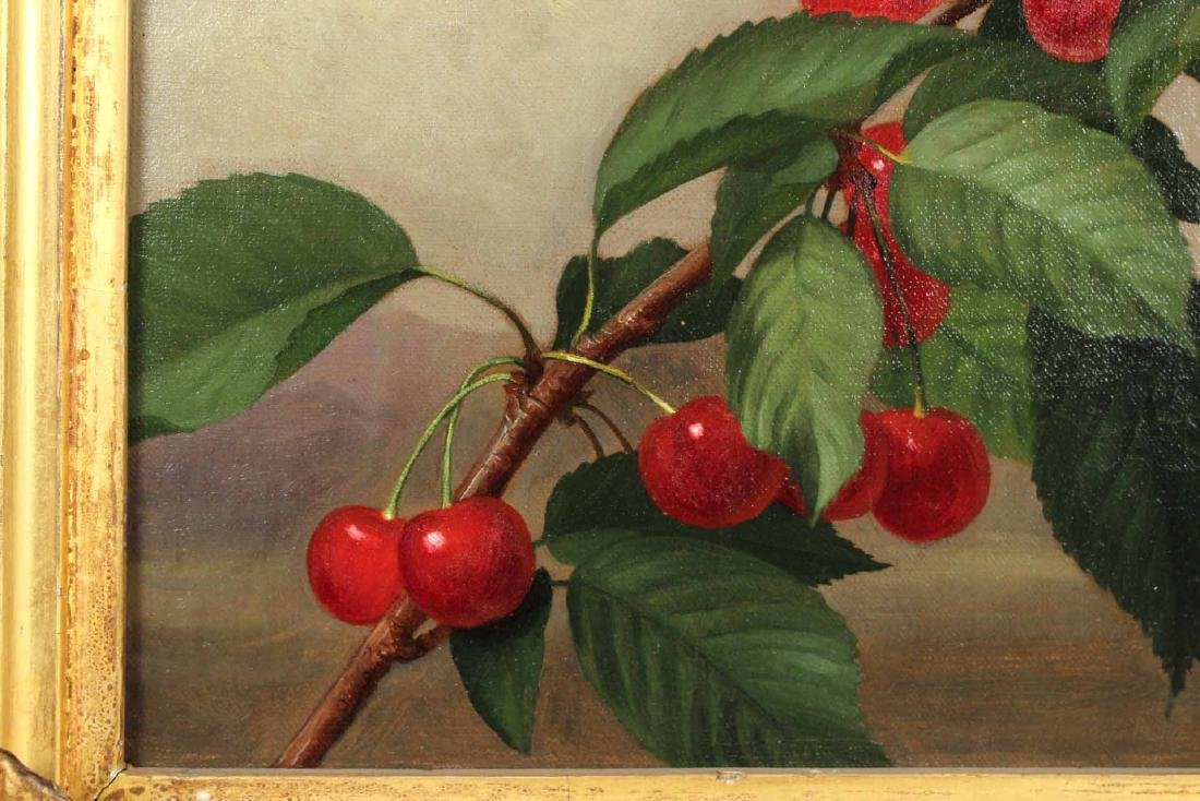 Oil on Canvas, Cherries, George Henry Hall - 5