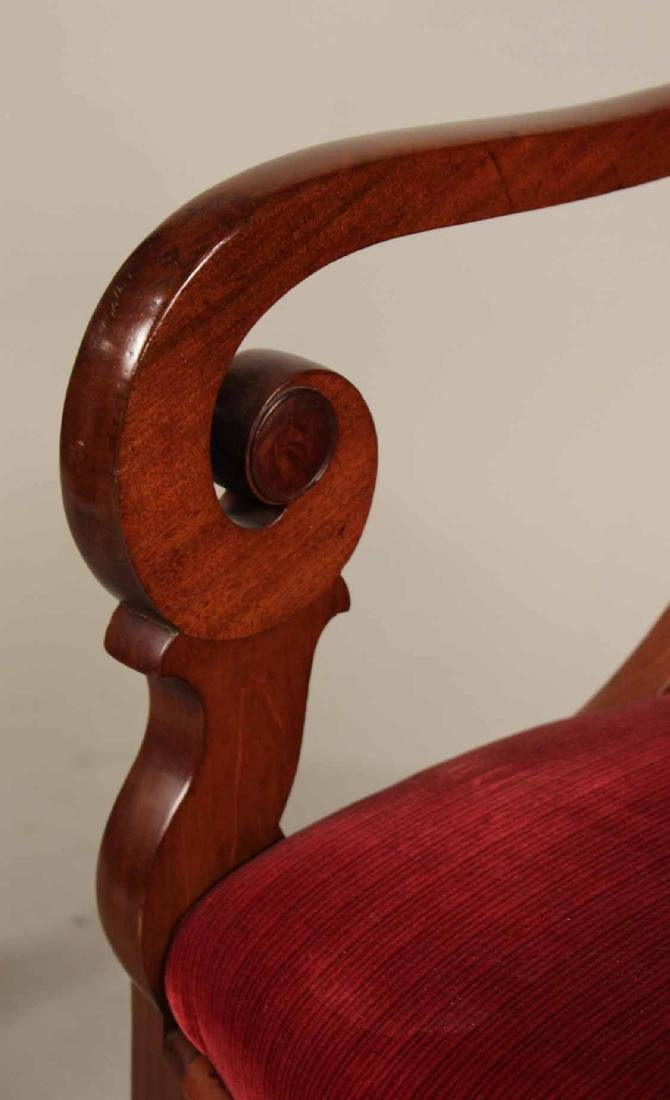 Pair of Neoclassical Mahogany Armchairs - 3
