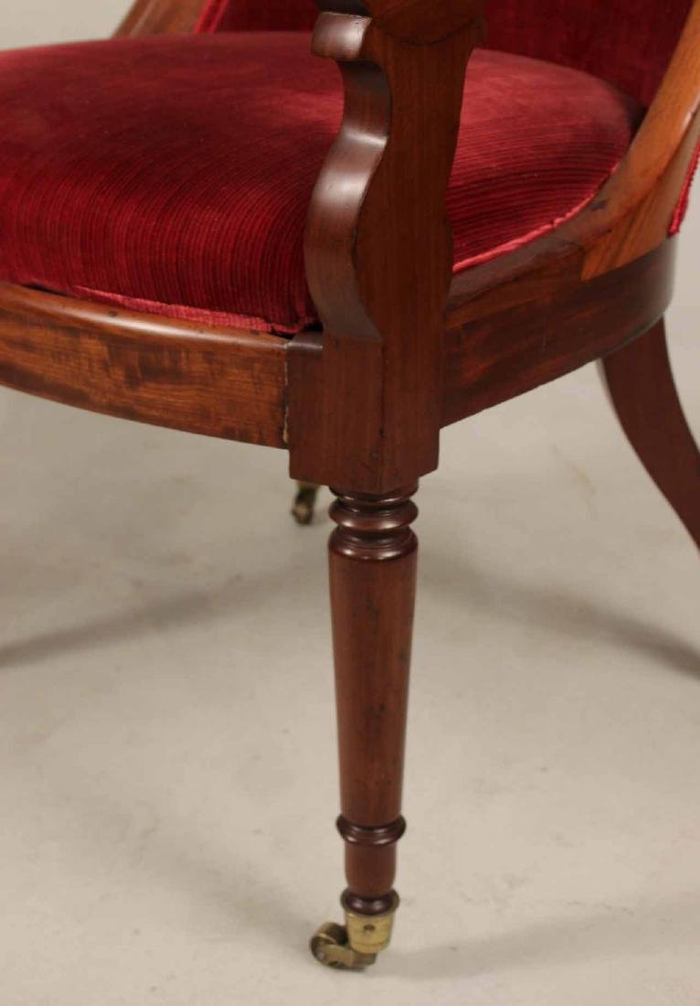Pair of Neoclassical Mahogany Armchairs - 4