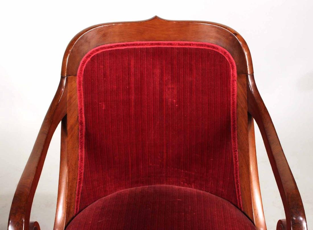 Pair of Neoclassical Mahogany Armchairs - 5