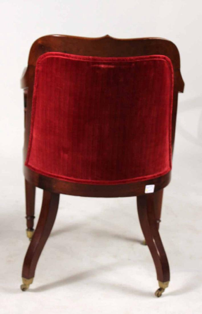 Pair of Neoclassical Mahogany Armchairs - 7