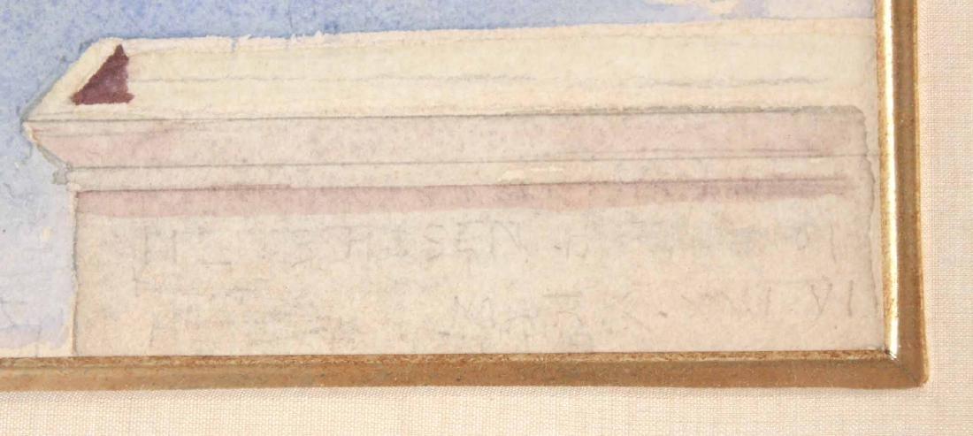 Watercolor, Figure with Wreath, John LaFarge - 4