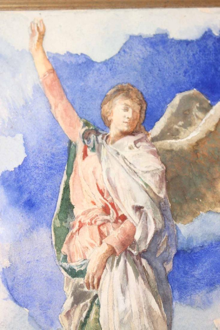 Watercolor, Figure with Wreath, John LaFarge - 5