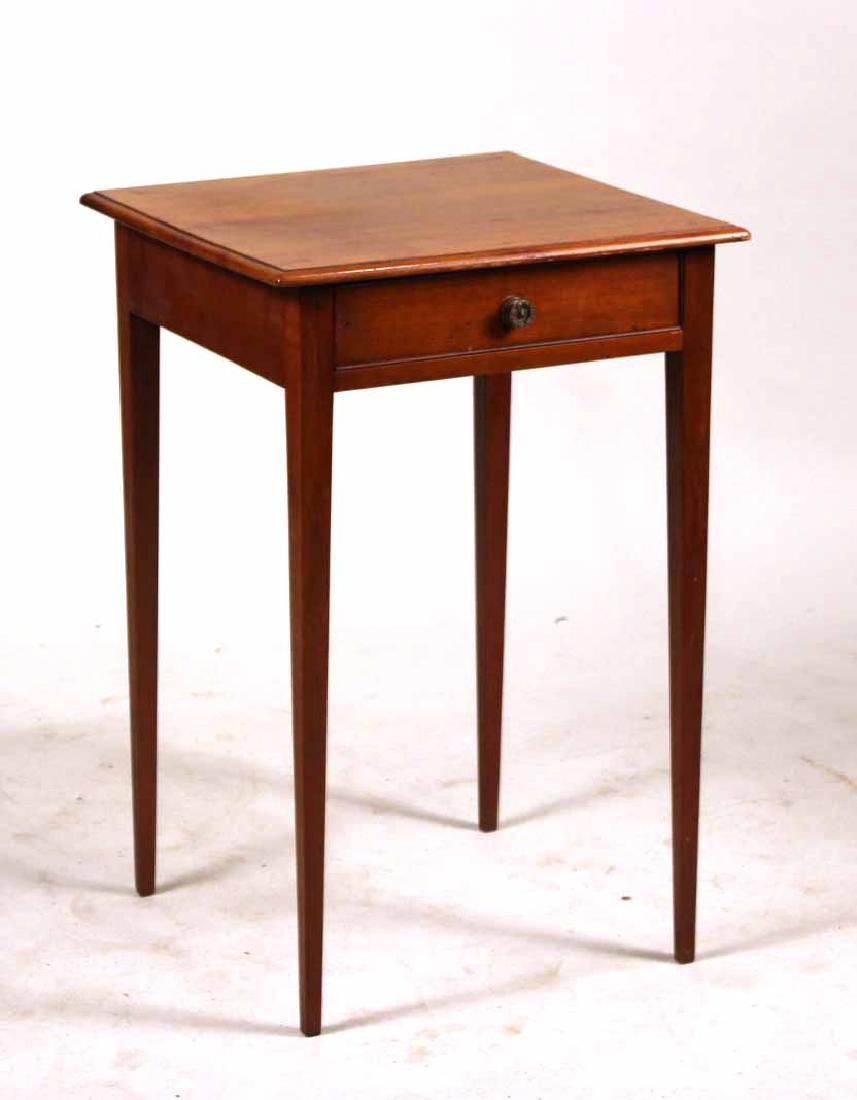 Federal Cherrywood One-Drawer Work Table