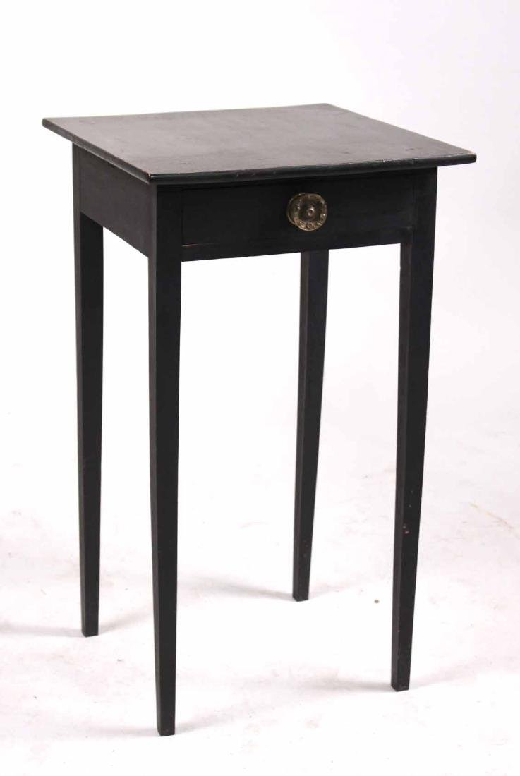 Federal Black-Painted Maple and Pine Work Table