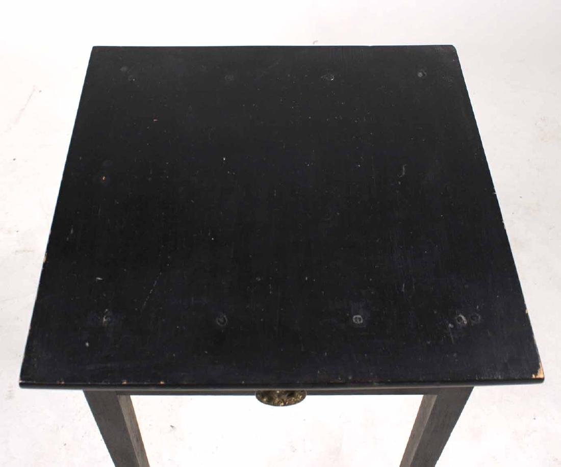 Federal Black-Painted Maple and Pine Work Table - 2