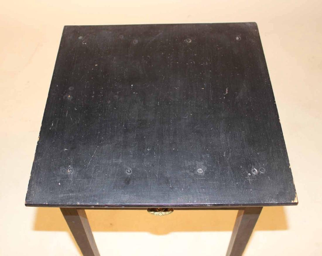 Federal Black-Painted Maple and Pine Work Table - 3