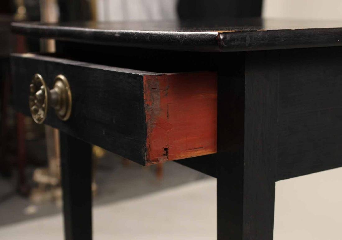 Federal Black-Painted Maple and Pine Work Table - 4