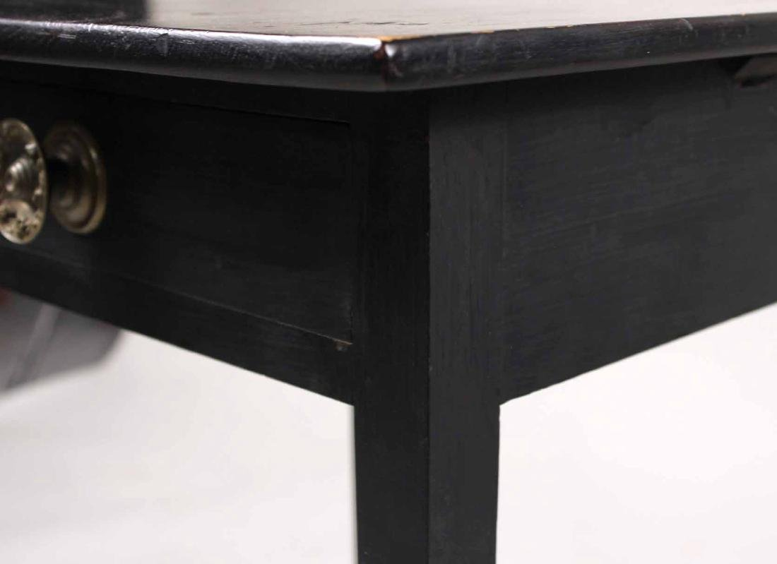 Federal Black-Painted Maple and Pine Work Table - 6