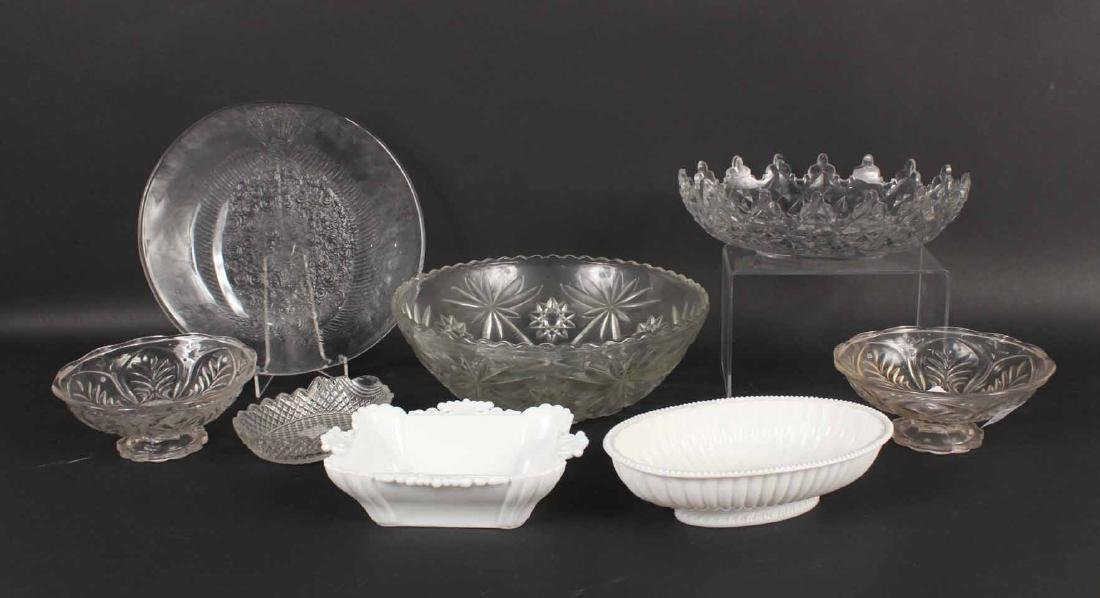 Group of Glass Bowls and Plates