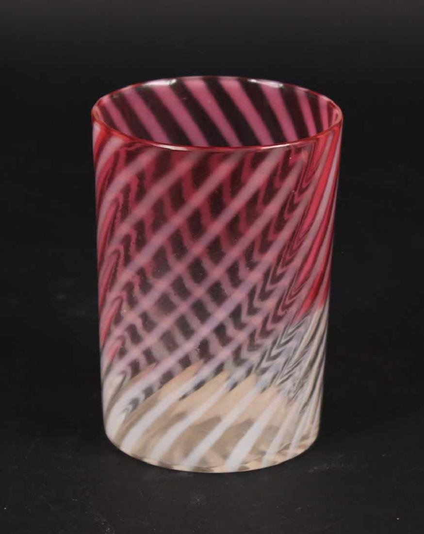 Art Glass Covered Candy Dish - 4
