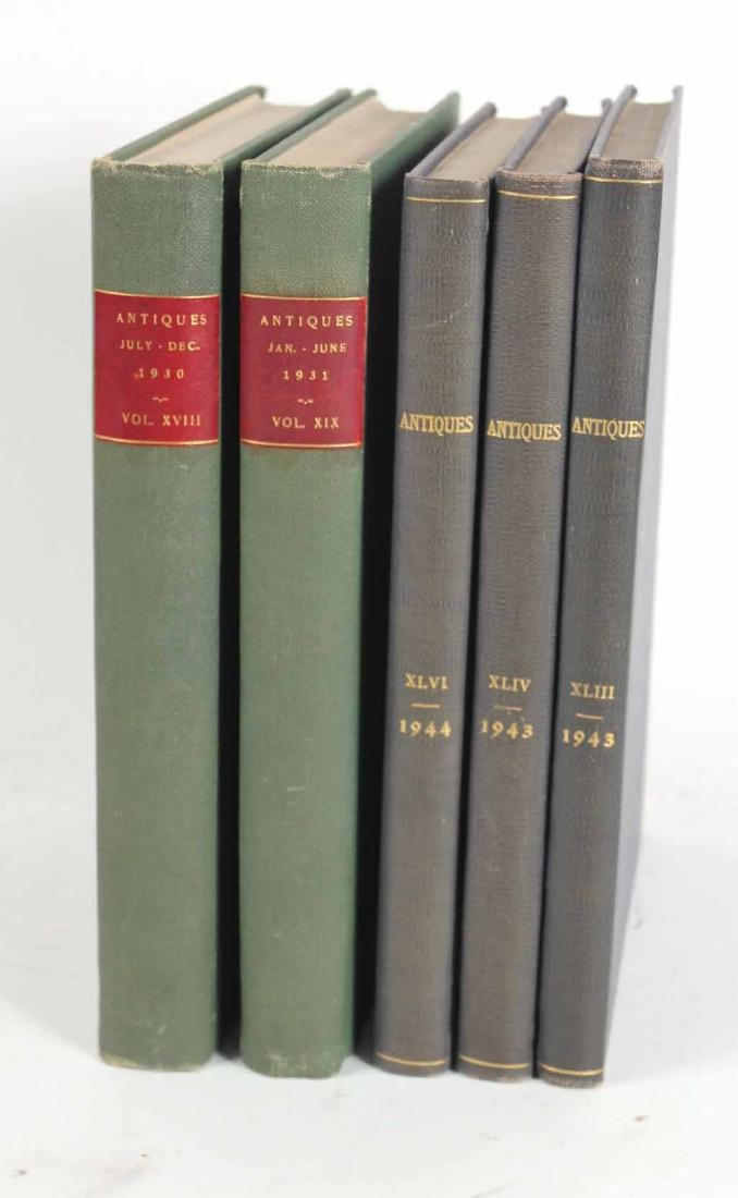 """Collection of Bound """"Antiques"""" Magazines"""