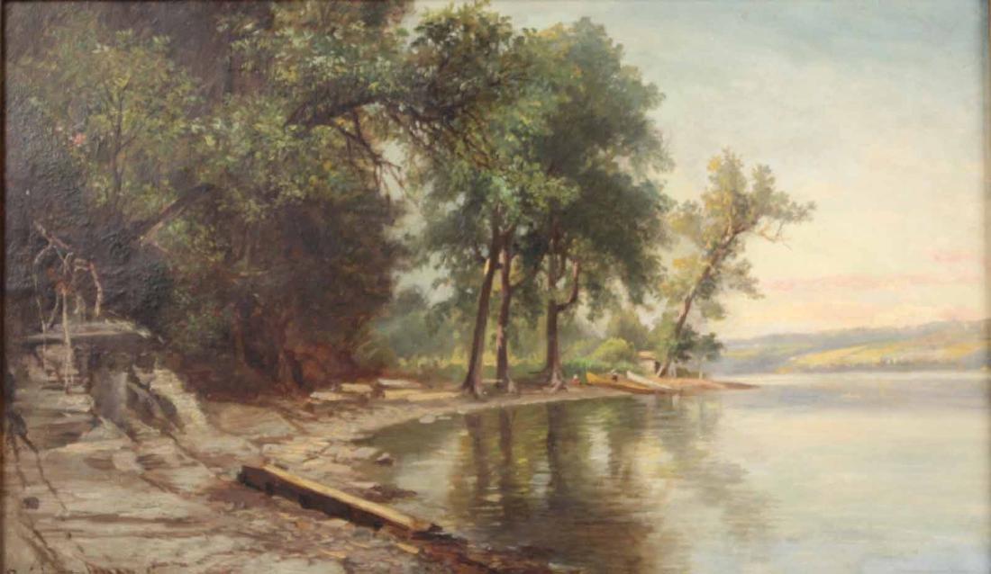 Oil on Canvas, Benjamin Champney, Lake - 2
