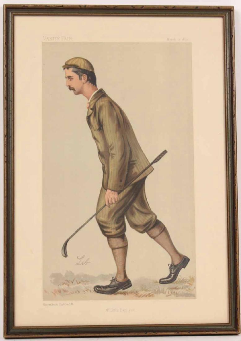 Lithograph, Vanity Fair, John Ball Golfer