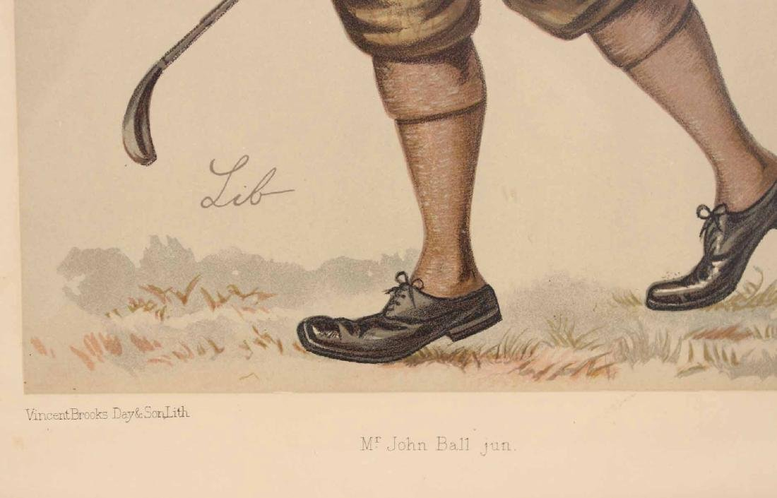 Lithograph, Vanity Fair, John Ball Golfer - 5