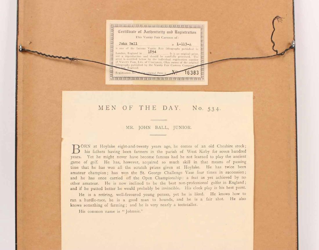 Lithograph, Vanity Fair, John Ball Golfer - 6