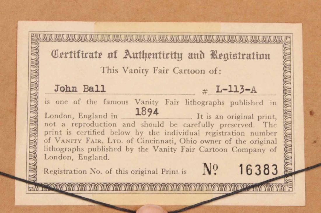 Lithograph, Vanity Fair, John Ball Golfer - 7
