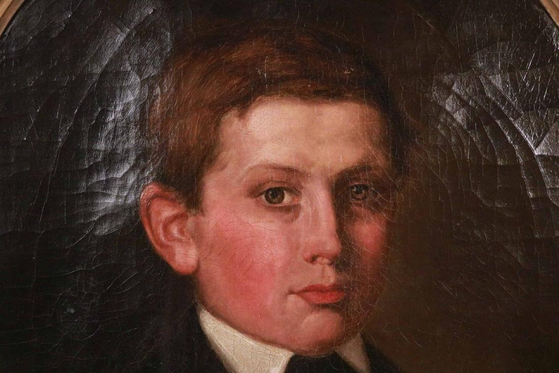 Oil in Canvas, Oval Portrait of a Young Man - 3