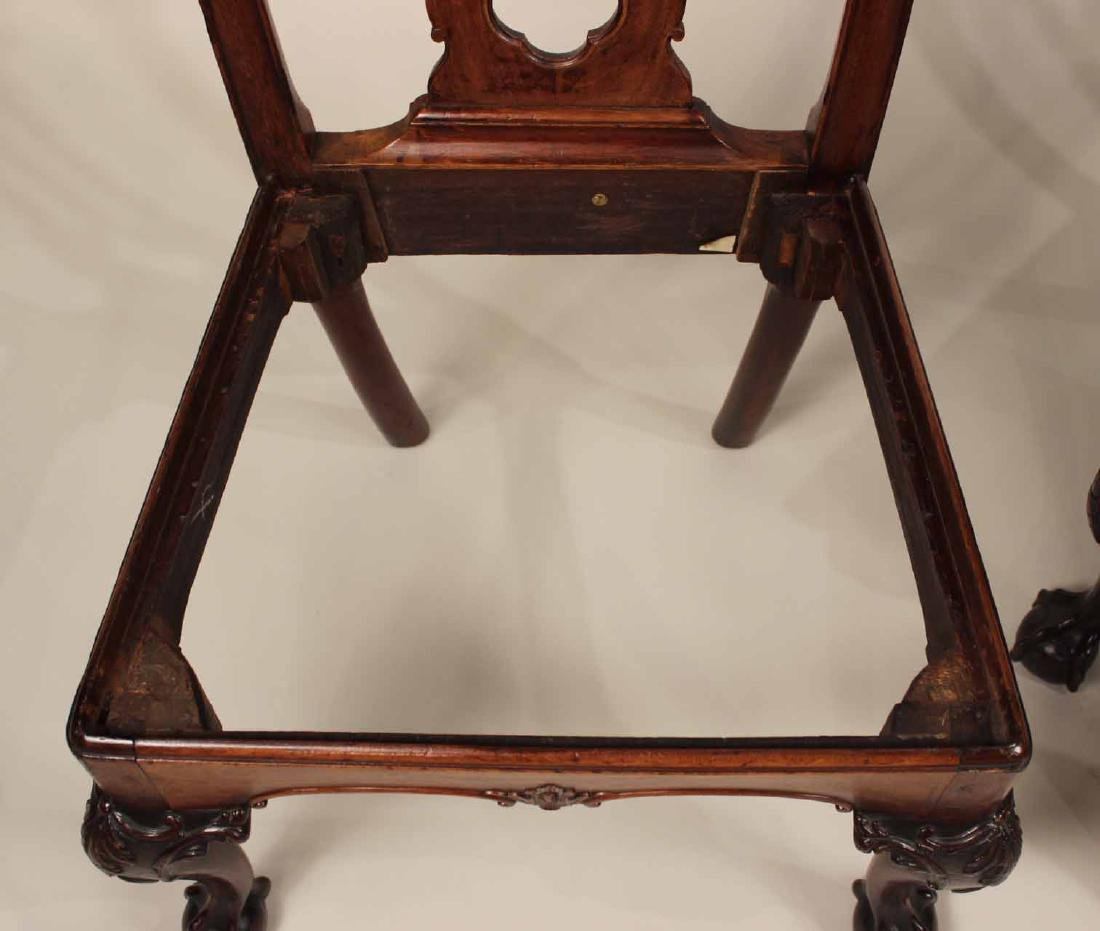 Near Pair of Chippendale Mahogany Side Chairs - 10