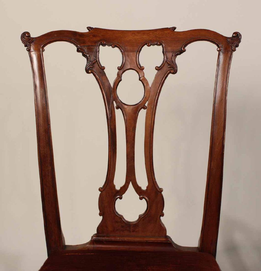 Near Pair of Chippendale Mahogany Side Chairs - 7
