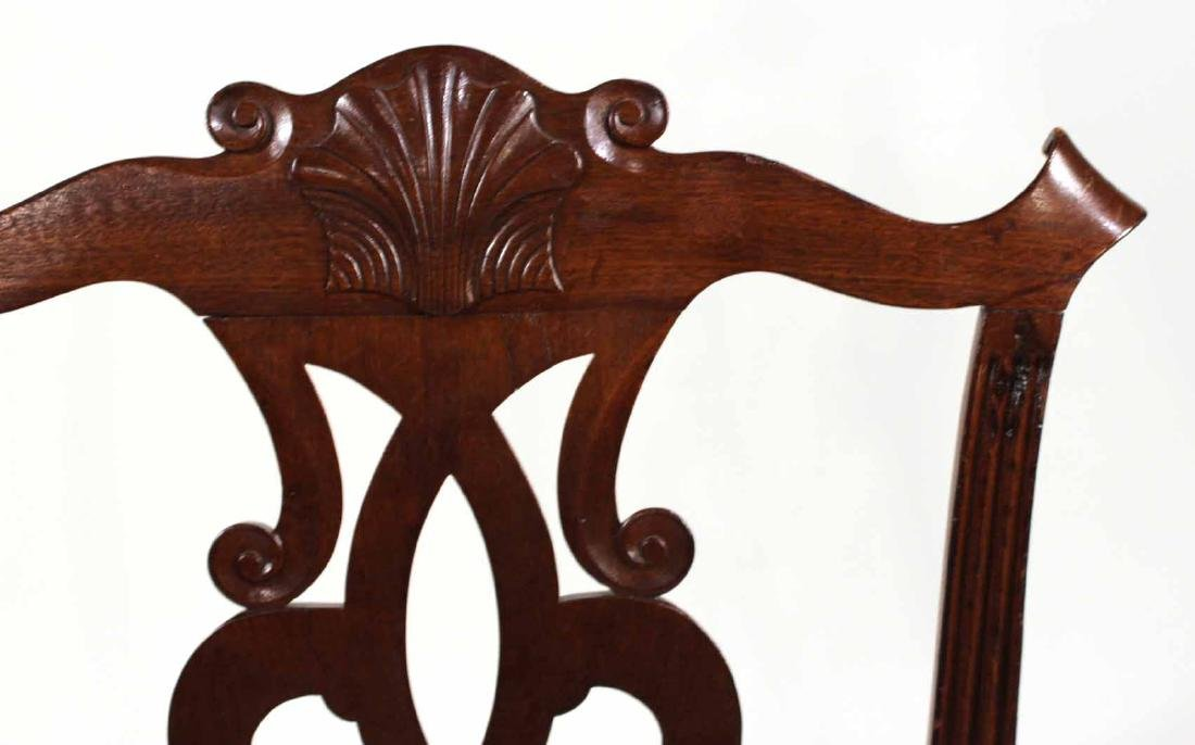 Chippendale Carved Mahogany Side Chair - 6