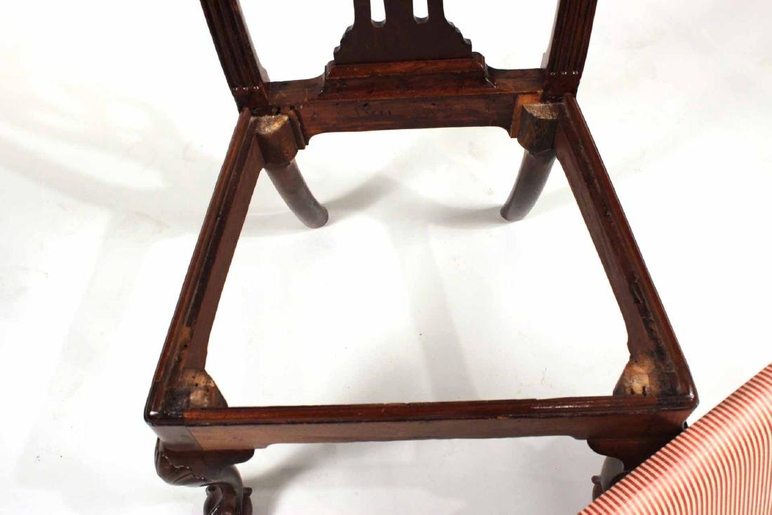 Chippendale Carved Mahogany Side Chair - 8