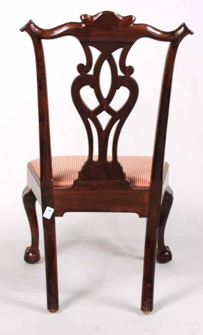 Chippendale Carved Mahogany Side Chair - 9