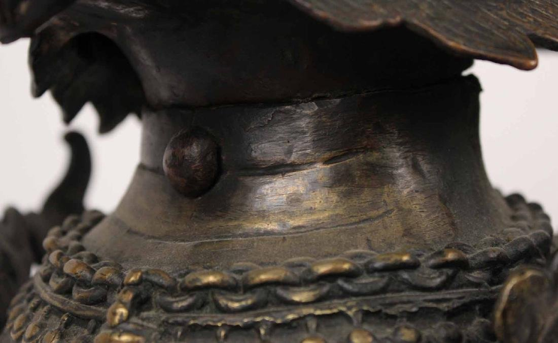 Large Bronze Foo Dog - 7