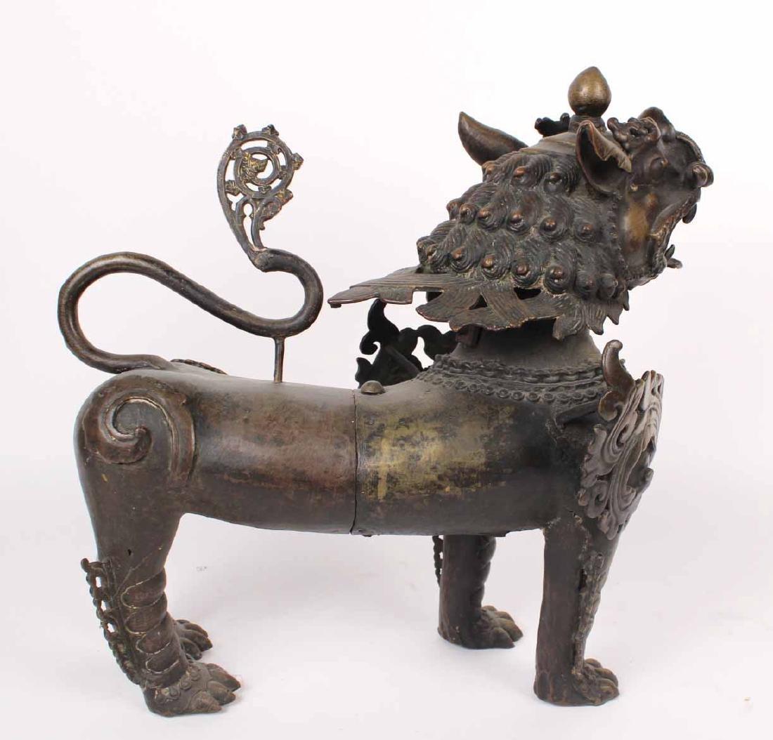 Large Bronze Foo Dog - 8