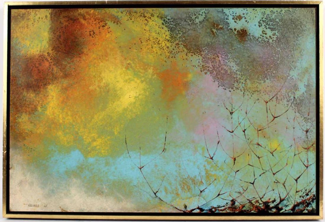 Oil on Board, Leonardo Nierman, Abstract