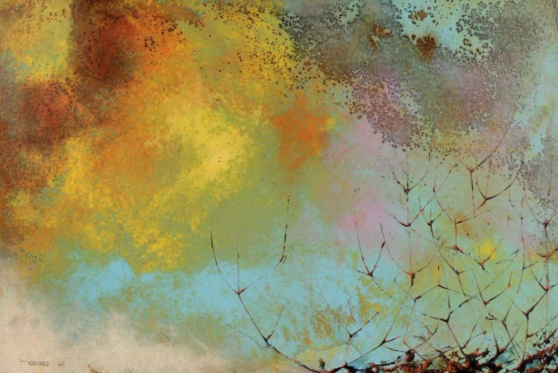 Oil on Board, Leonardo Nierman, Abstract - 2
