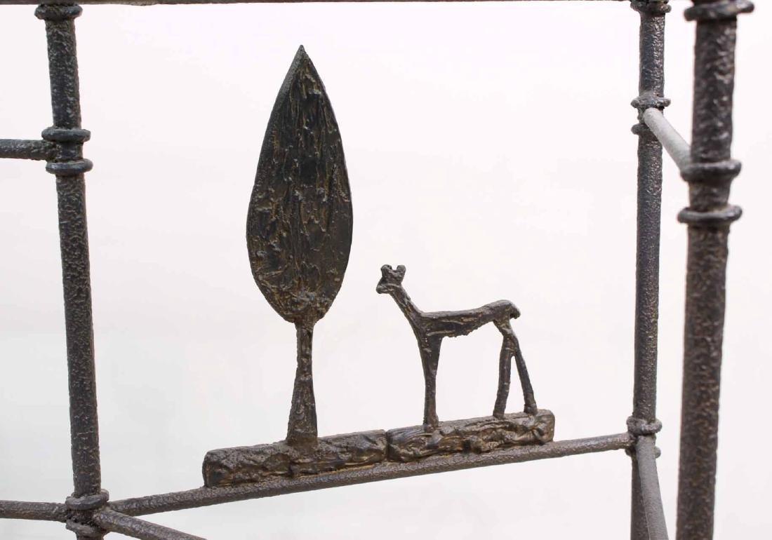 Diego Giacometti Style Iron Sofa Table - 2