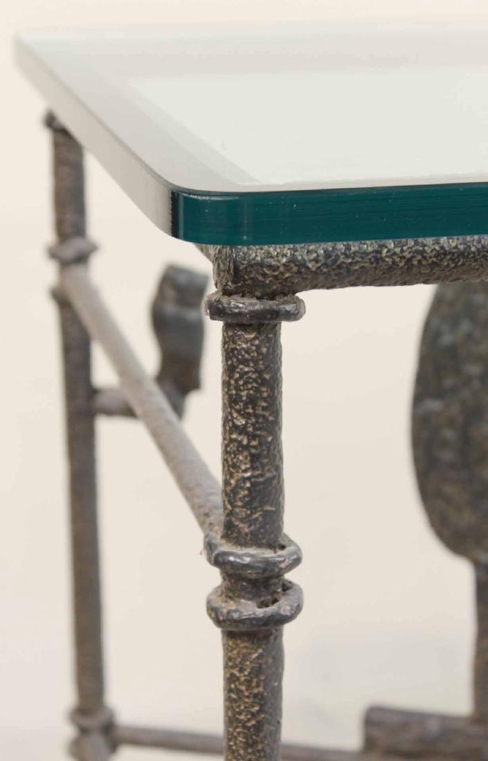 Diego Giacometti Style Iron Sofa Table - 6