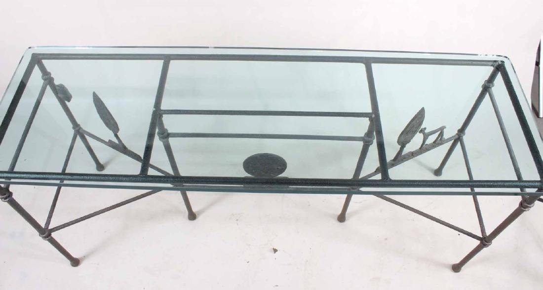Diego Giacometti Style Iron Sofa Table - 7