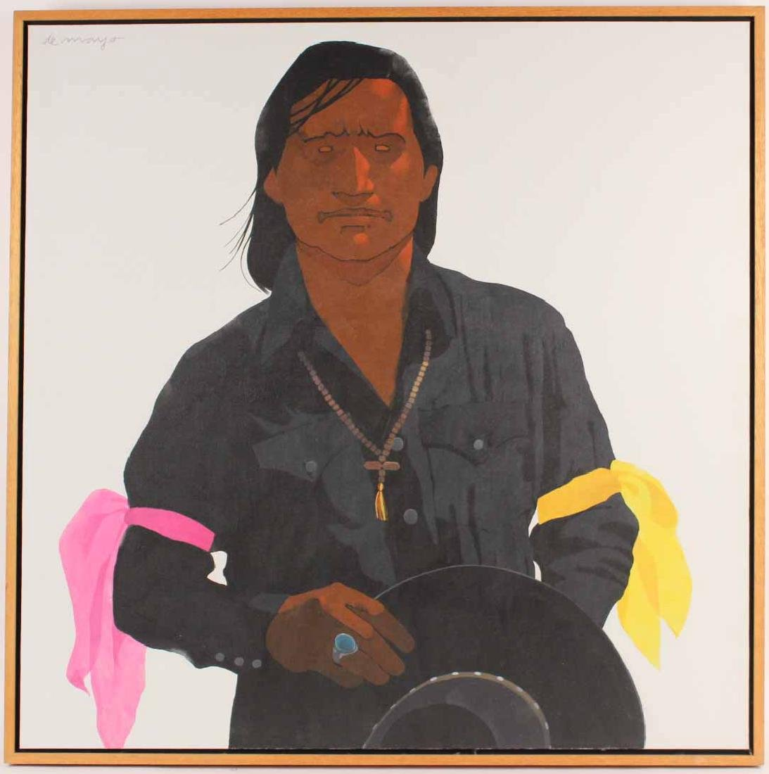 Oil on Canvas, Louis De Mayo, Native American
