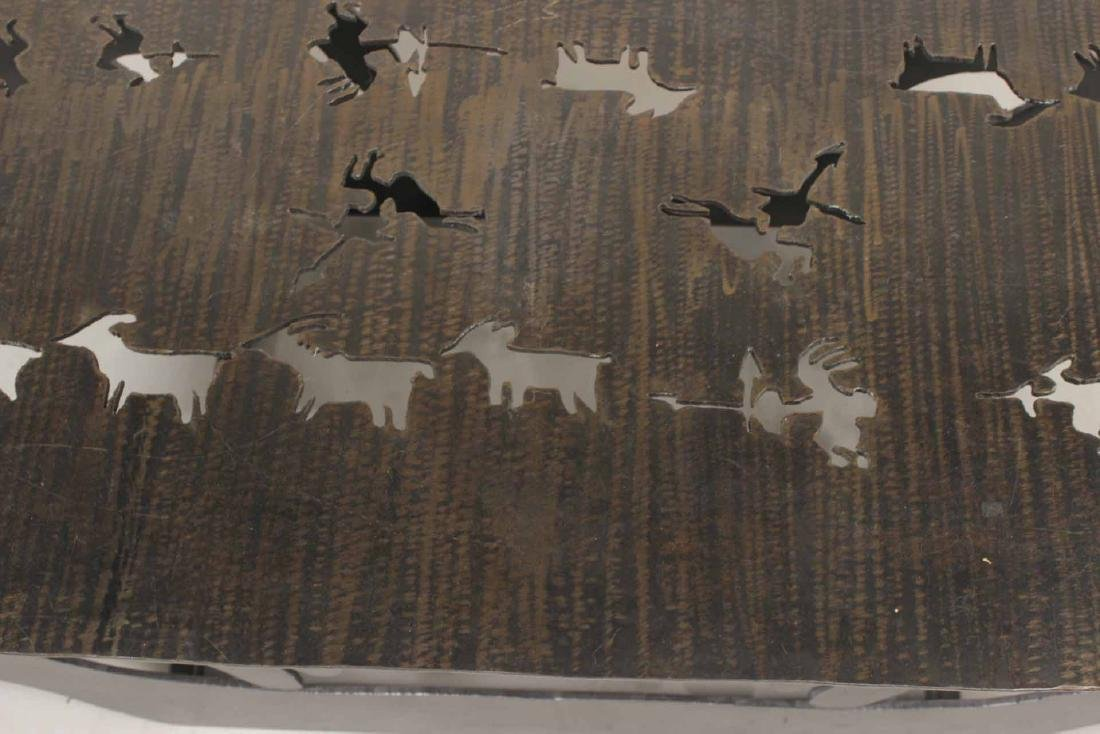 Modern Steel Table with Animal Cut Outs - 4