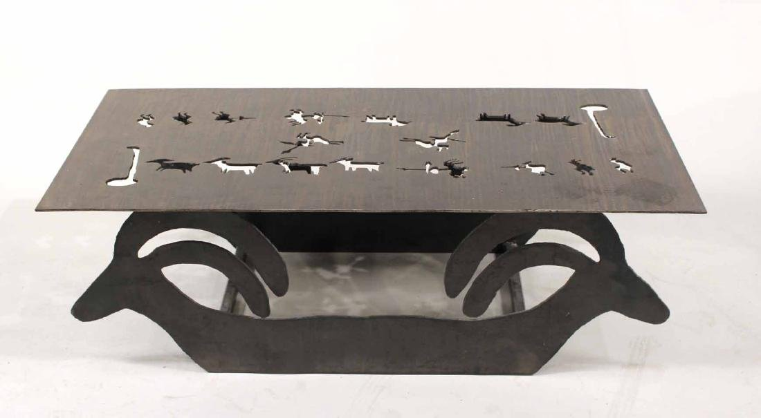 Modern Steel Table with Animal Cut Outs - 7