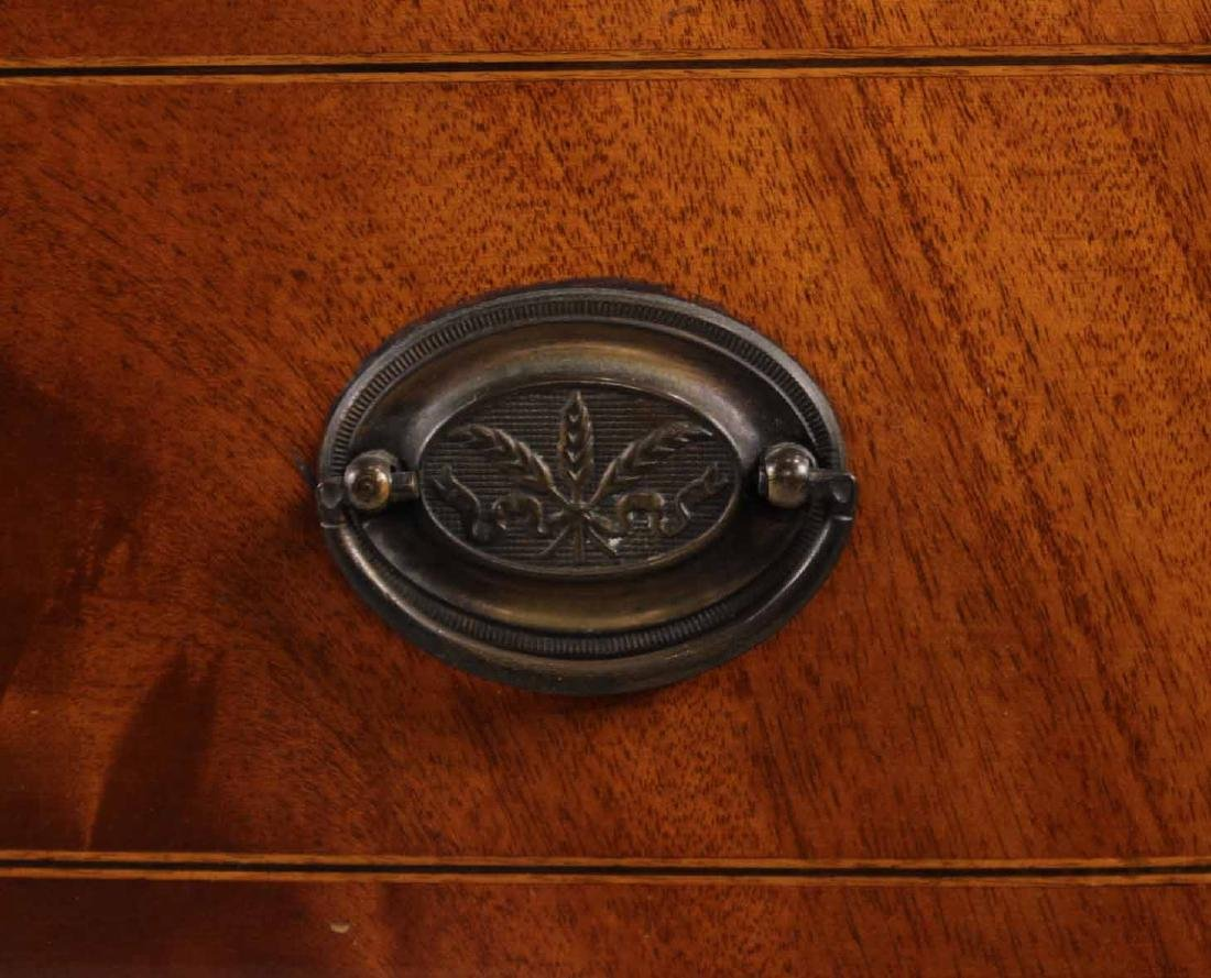 Federal Style Mahogany Bow Front Chest - 5