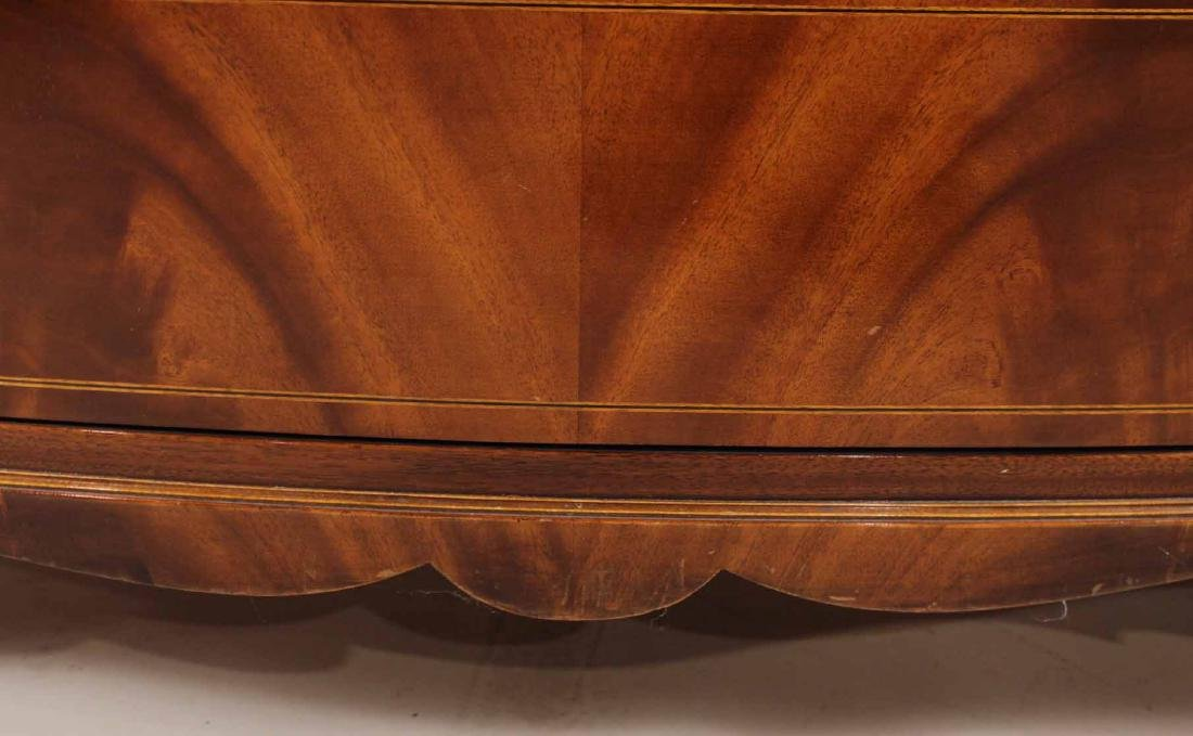 Federal Style Mahogany Bow Front Chest - 6