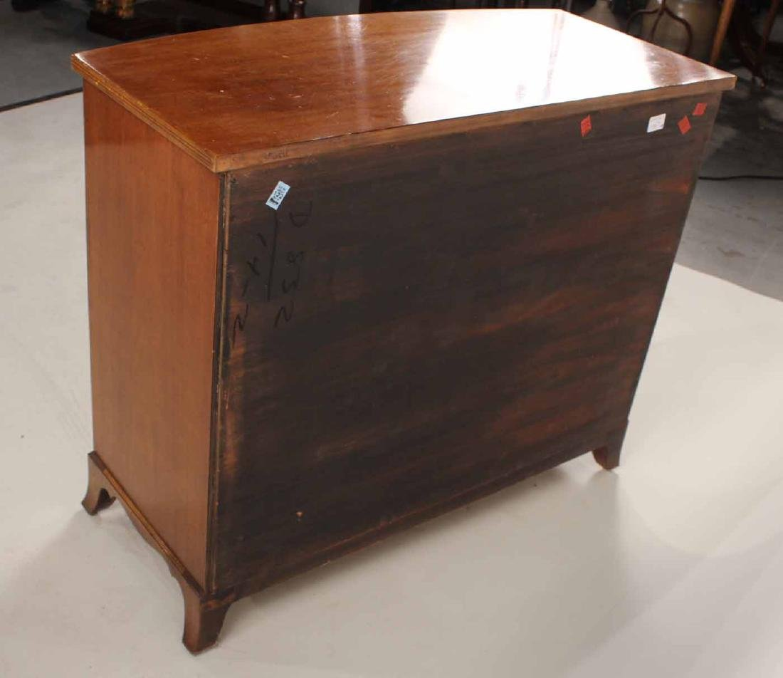 Federal Style Mahogany Bow Front Chest - 9