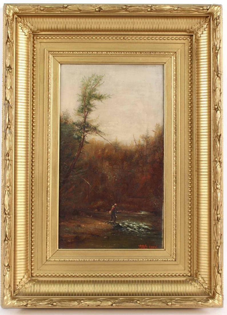 Oil on Canvas, Fisherman, Dwight Williams